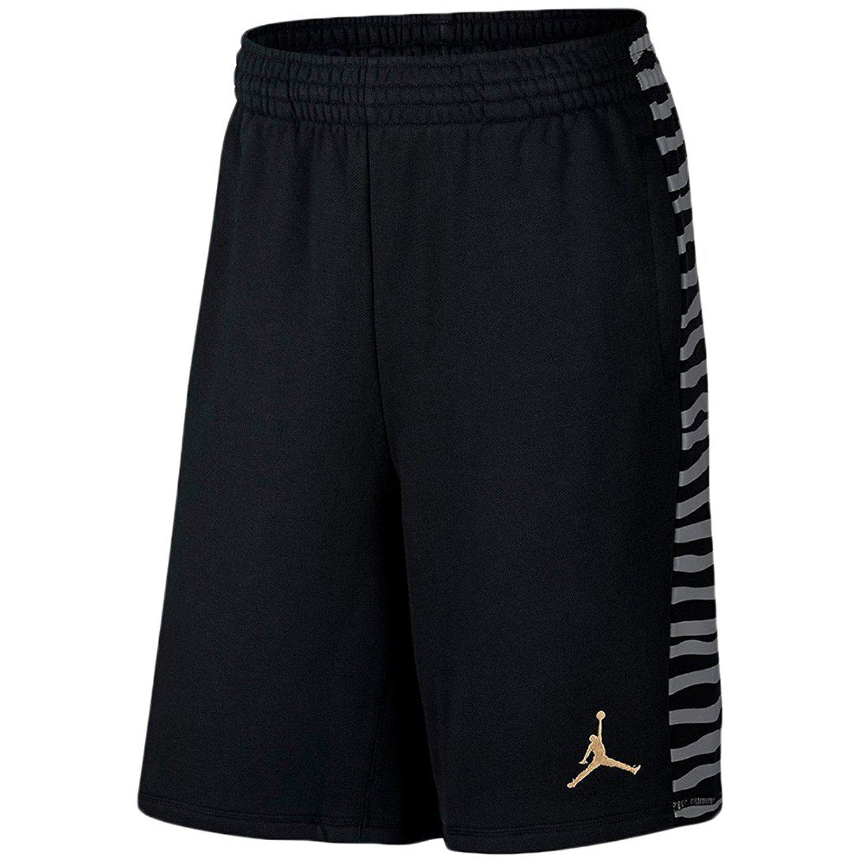 7ed500bcaafa9 Get Quotations · Men's Air Jordan 10 Fleece Shorts (820145-016) - BLACK