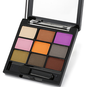 Wholesale private label 9 colors waterproof long lasting shadow for eyes with eyeshadow brush