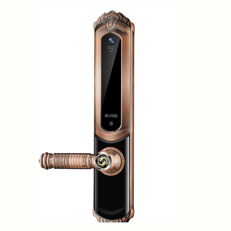 Anti-roubo de bloqueio inteligente semicondutor módulo de impressão digital código do cartão chave tampa deslizante fechadura da porta de entrada