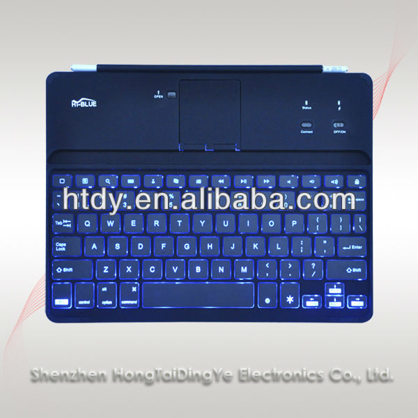 Aluminum Ipad keyboard for pad 2/3/4 /ipad mini/ipad air