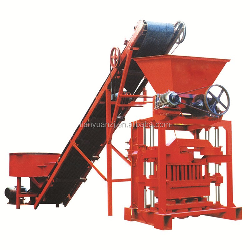 Small capacity semi automatic operated fly ash solid brick making machine