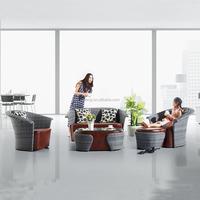 New design rattan outdoor furniture sofa set morden living room leather sofa set