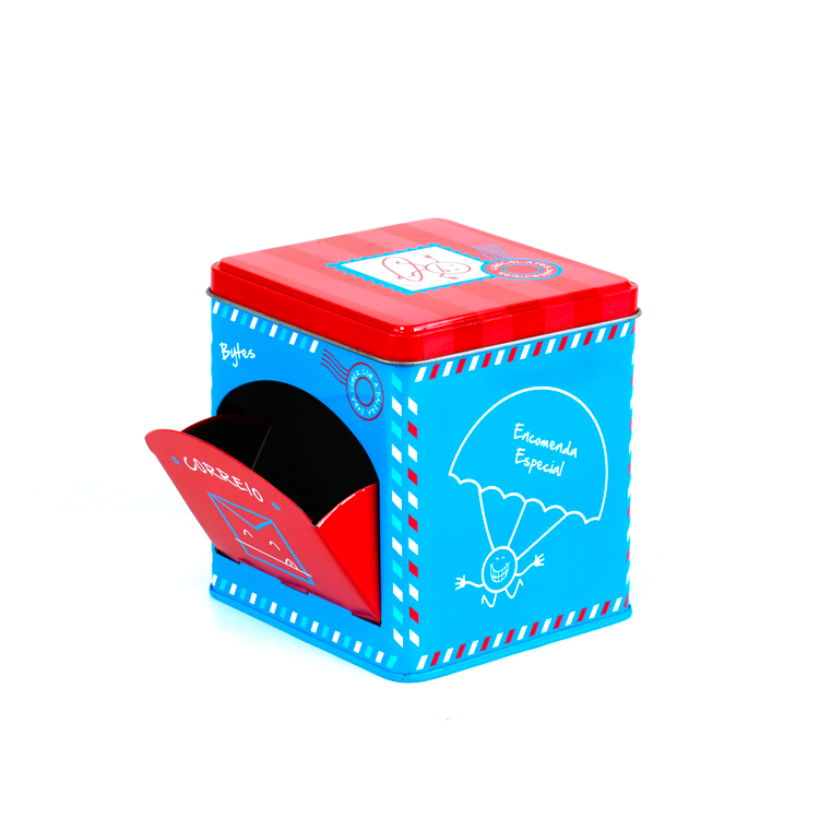 New design mailbox shaped biscuit tin container empty biscuit tin can