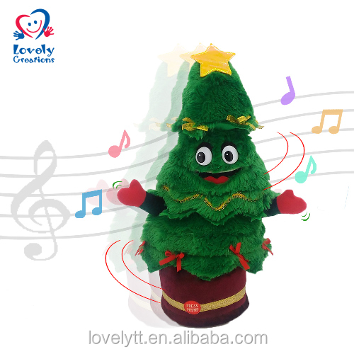 "15"" Twisting And Singing Christmas Tree Decoration Toy"