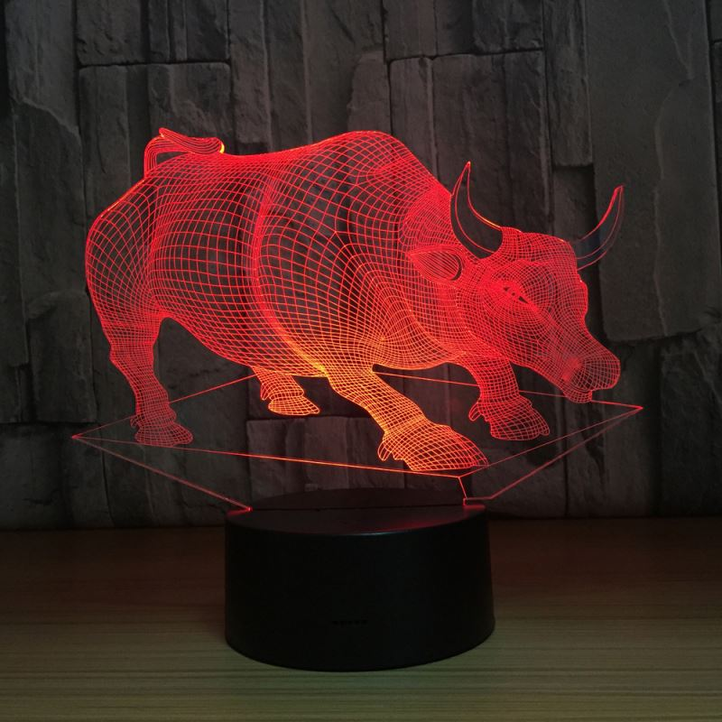 Zogift Amazing Now Battery Operated 3D LED Table <strong>Lamp</strong> Cow 3D Acrylic <strong>Lamp</strong>