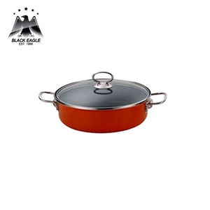 Deep hamburger retangular fry pan