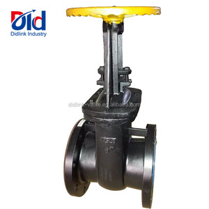 "Cast Iron ANSI 6"" Class 125 Hard Seal Manual Handwheel Rising Stem With Flanged Gate Valve"