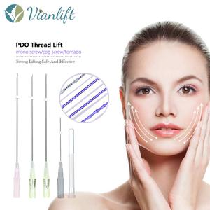 Non-Surgical medical PDO screw thread for face lifting