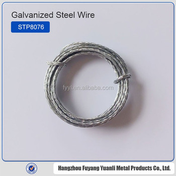 Galvanized Flat Stitching Coil Wire Steel Wire Braided Cable - Buy ...