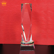 New Arrival Personalized Achievement Crystal Torch Cheap Trophy Award