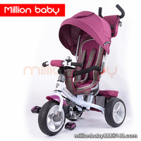 2016 best comfortable baby seat tricycle with rubber wheels EN71 trike