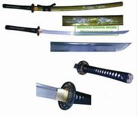 high quality shell engraved damascus steel handmade katana samurai sword HK026