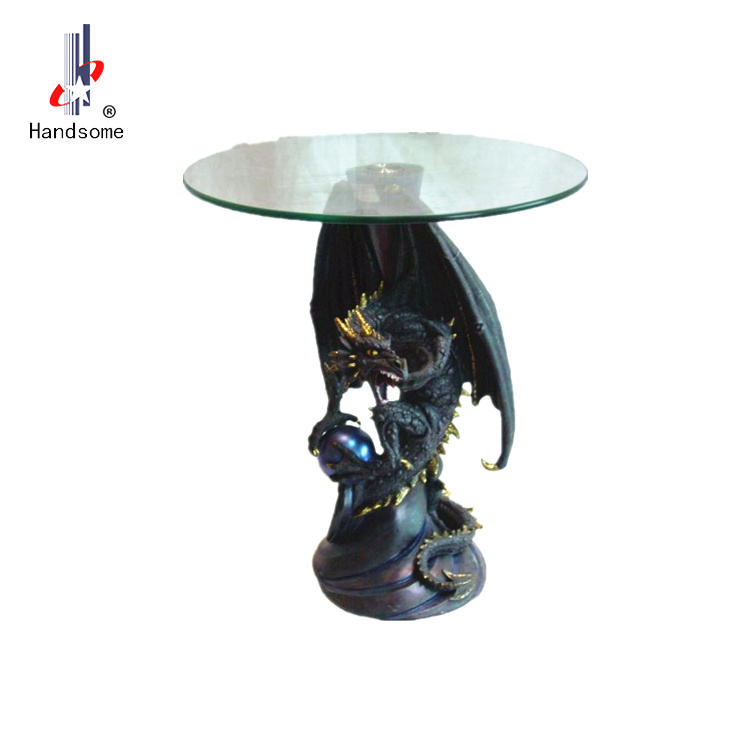 23 Inch Resin Morden Dragon Statue Gl Coffee Table Product On Alibaba