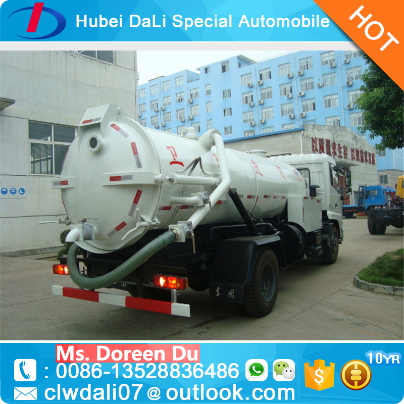 Dongfeng 4*2 Sewage suction tanker truck used sewage suction truck