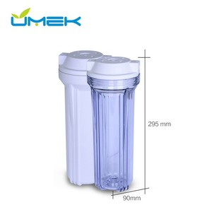 10 inch white color plastic port water cartridge filter housing for home