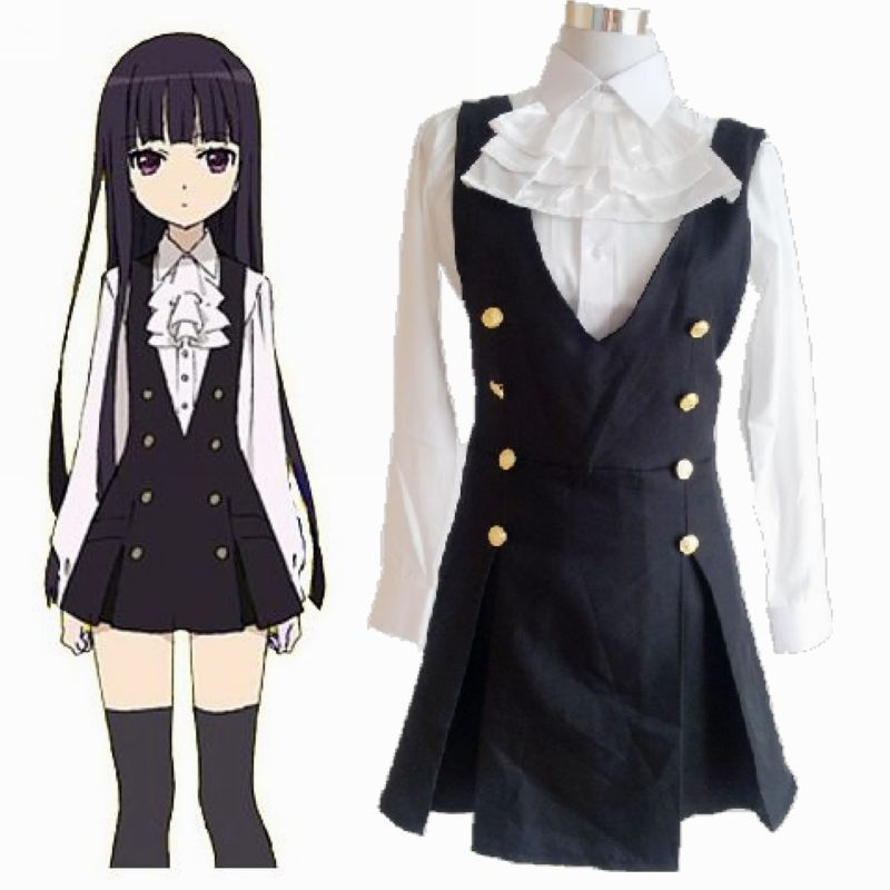 Get Quotations · Japan Anime Inu X Boku Secret Service Cosplay Costume  Shirakiin Ririchiyo Maid Uniform Female Uniform f78d98ca27