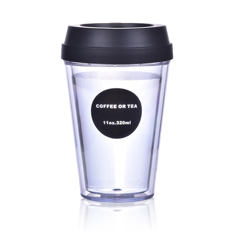 Retail Online Shopping Free Shipping BPA Free Double Wall Reusable Plastic Coffee <strong>Cup</strong> With Lid