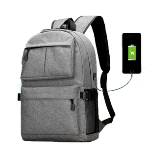 15.6 Inch USB Charging Port Light Weight Travel College Backpack for Men Women