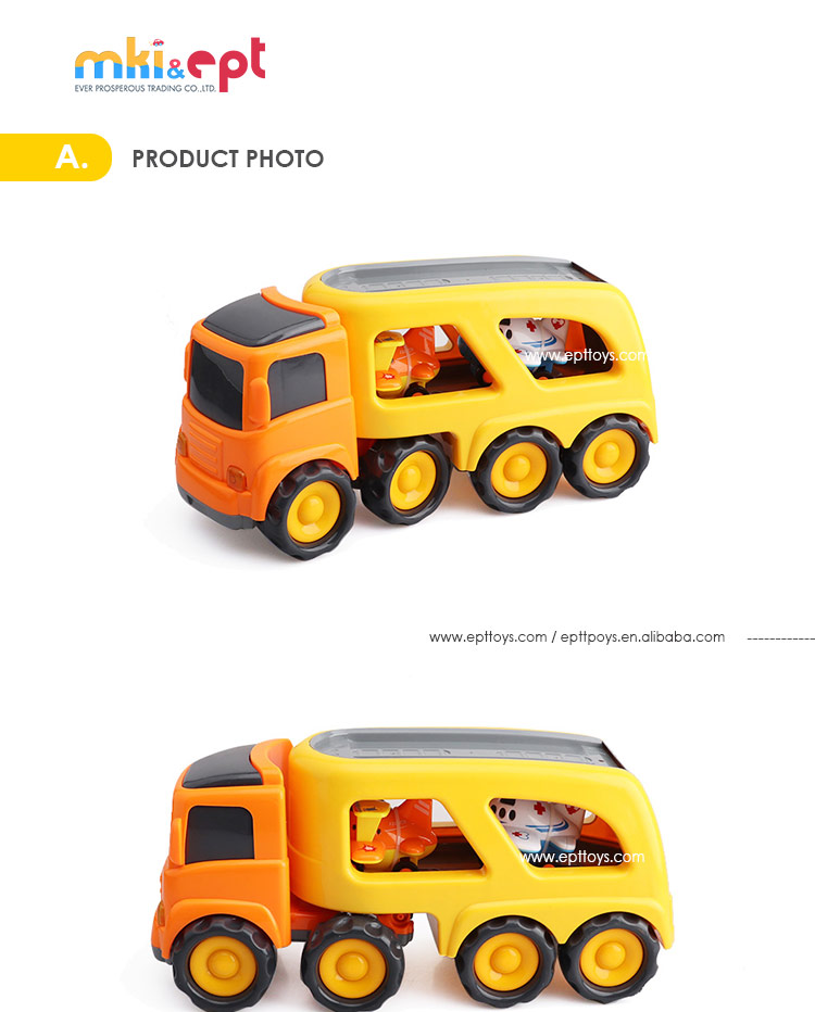 China wholesale big size plastic friction container truck toy
