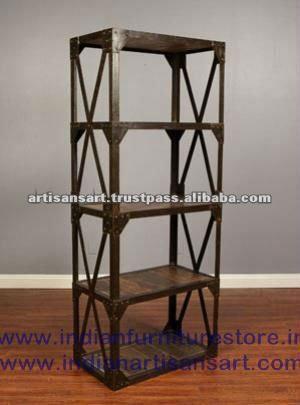 Estanter a de hierro y madera estanter as para libros - Estanterias de hierro ...