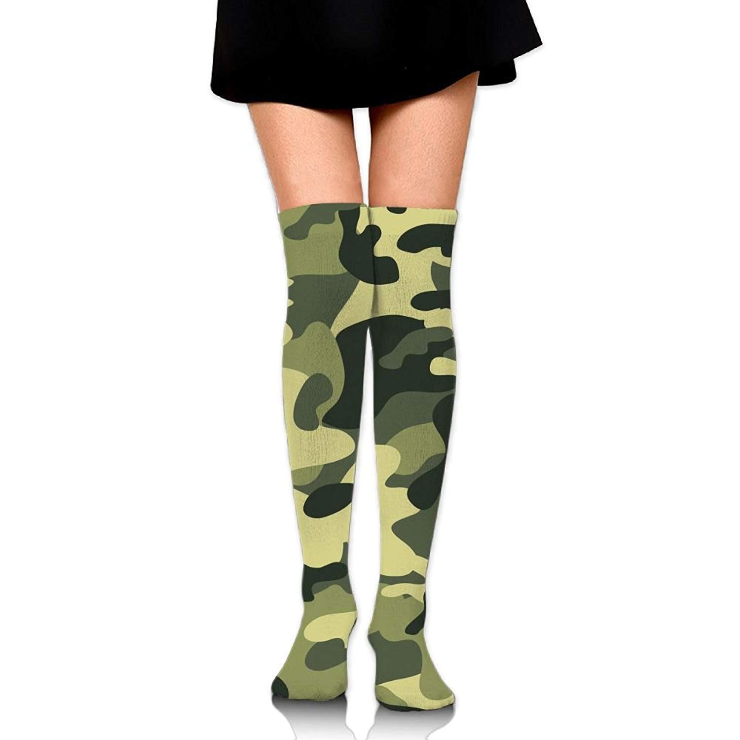 Zaqxsw Camouflage Women Graphic Thigh High Socks Long Socks For Womens