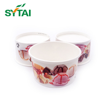 New style custom Print Ice Cream Use and Single Wall Style Ice Cream Paper Cup