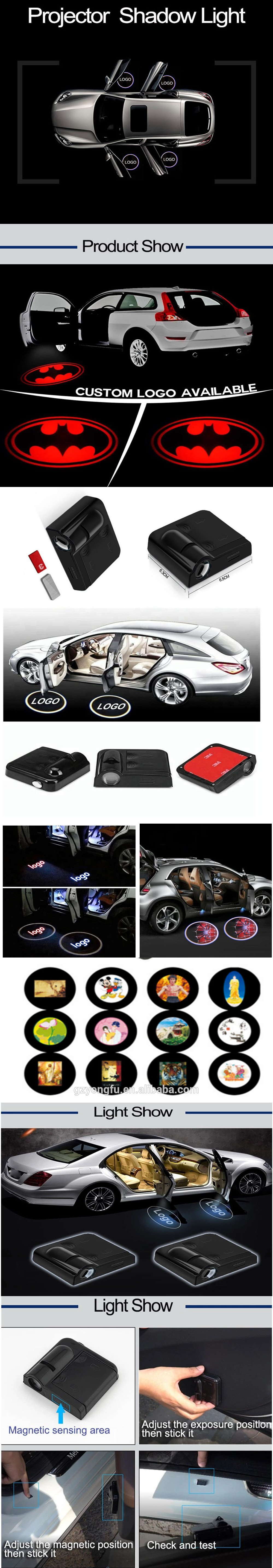 Customize Logo Universal Wireless Led Car Door Courtesy Welcome Laser Projector Ghost Shadow Logo Light