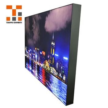 china wholesale   outdoor or indoor aluminium fabric photography led cinema advertising  light box