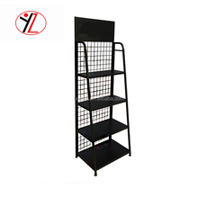 Alibaba online retail store reasonable price metal plate display stands for lubricanting oil display stand