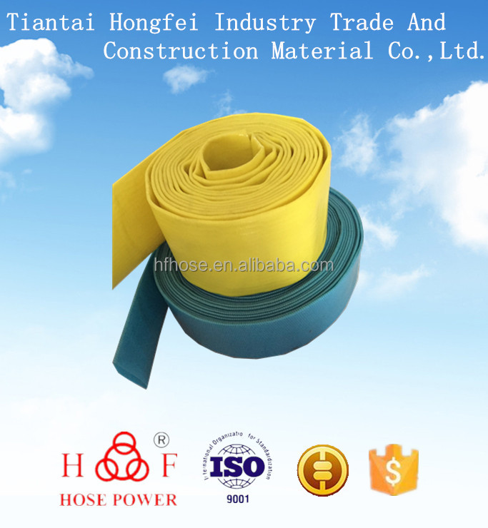 Taizhou Pvc sunny hose for irrigation and discharge in agriculture and industry