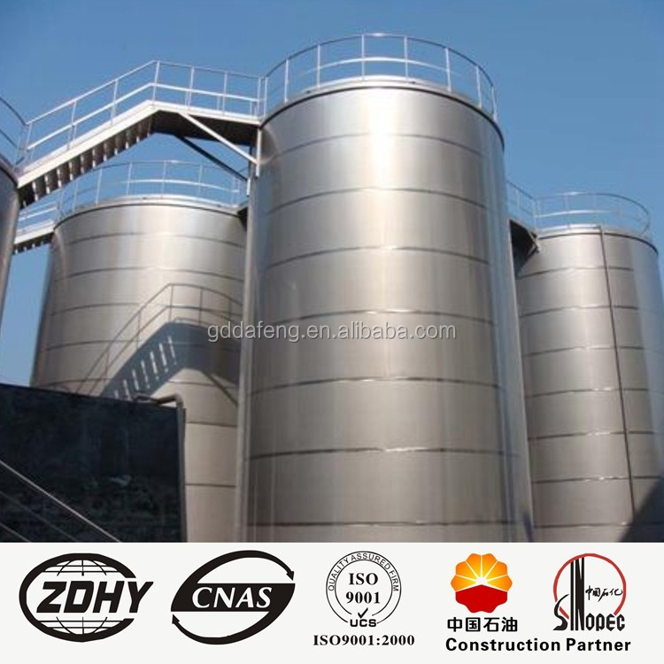 1,000 cubic meters of crude oil storage tank capacity, vertical cement storage tanks, chemical