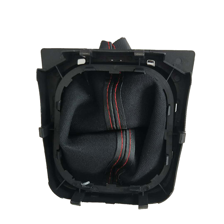 Factory Made Black Leather With Red Line Gear Shift Boot With Rack For VW Golf 5  golf 6