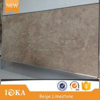 Honed yellow limestone light cream limestone tile