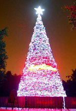 wire lighted outdoor led christmas tree