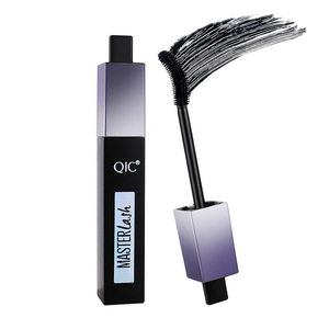 New arrival!! QIC Mascara 4D waterproof mascara Natural Thick Lengthening Curling Mascara brush head can rotate free