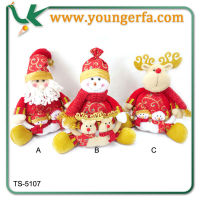 Wholesale High Quality Indoor Christmas Decorations Sitting Doll