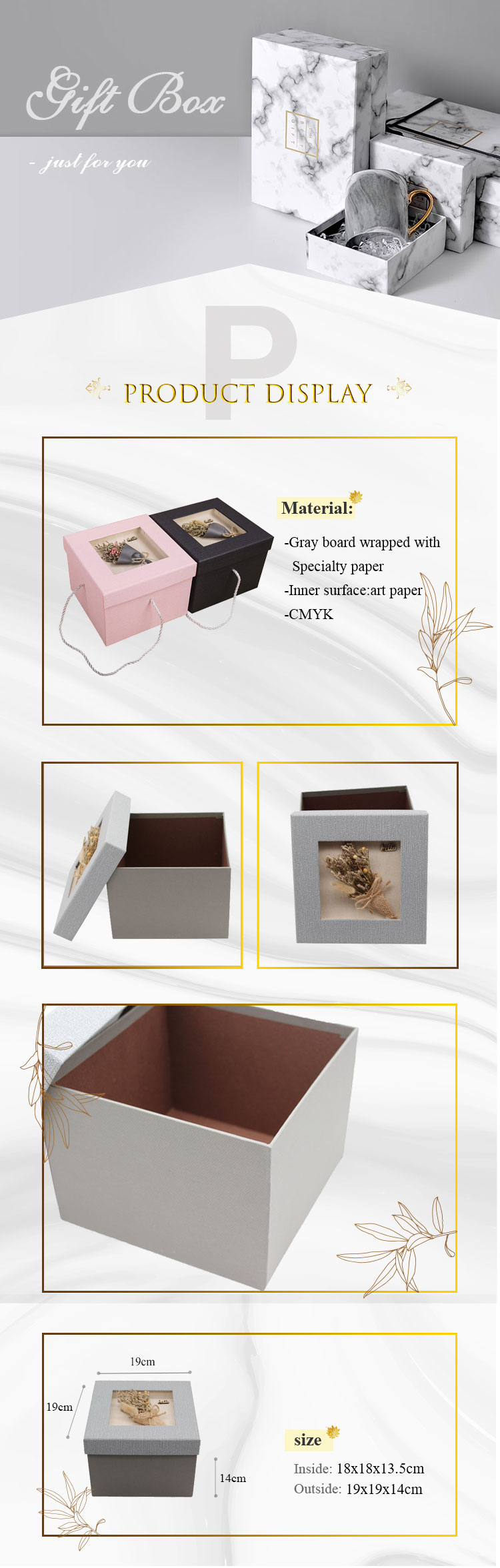 custom Large high-end customised motorcycle delivery wedding birthday gift box