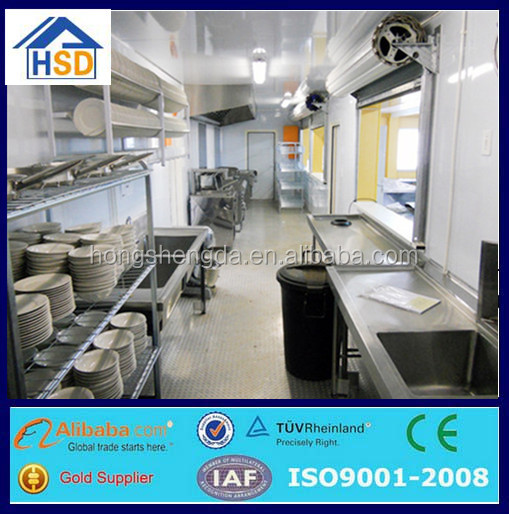 pre fab ready made mobile portable kitchen shipping container