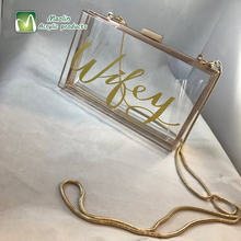 2018 frauen Transparent Abend <span class=keywords><strong>Handtasche</strong></span> Personalisierte klar <span class=keywords><strong>acryl</strong></span> geldbörse