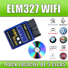 2015 Top Quality New Version Elm327 WIFI Scanner Diagnostic Tool OBD2 Wifi Elm 327 Scanner Wireless Elm327 China Support All IOS