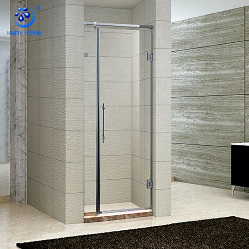 KD3039 profesional de producir precio al por mayor de lujo diseño barato de pivote de la puerta de ducha de vidrio