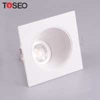 Europe hot products square MR16 GU10 downlight ceiling light fittings recessed gu10 lamp led grille ceilling light