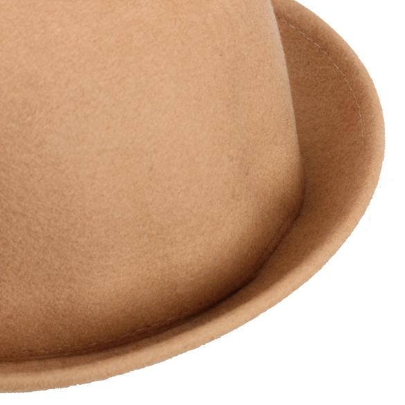 621ce14f0e69e Vintage Women Men Woolen Roll Brim Bowler Hats Unisex Billycock Classic -MX8.  Description