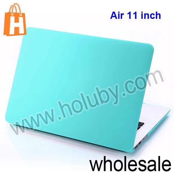 New Arrival Candy Color Ultra Thin 11 inch Popular Folio Plastic Protective Hard Shell Case for Apple Macbook Air Light Blue