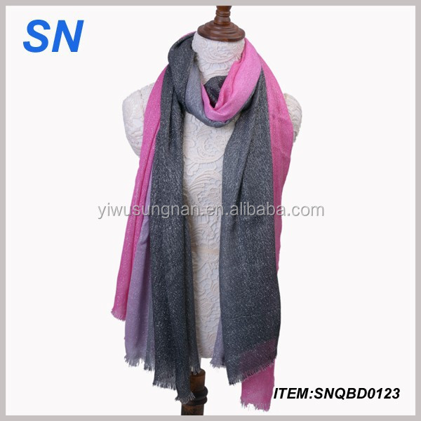 hot sell fashion fold scarf gradient scarf cheap women scarf