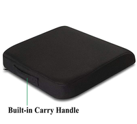 Large Seat Cushion with Carry Handle and Anti Slip Bottom Gives Relief from Back Pain