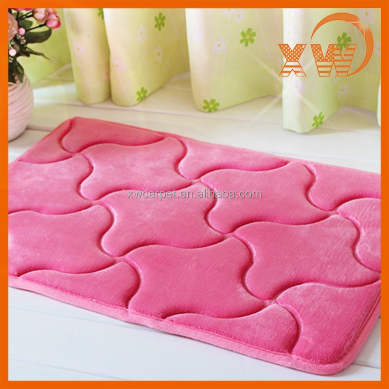 Hot new products popular Non-slip 3D embossed Windmill flannel door mat