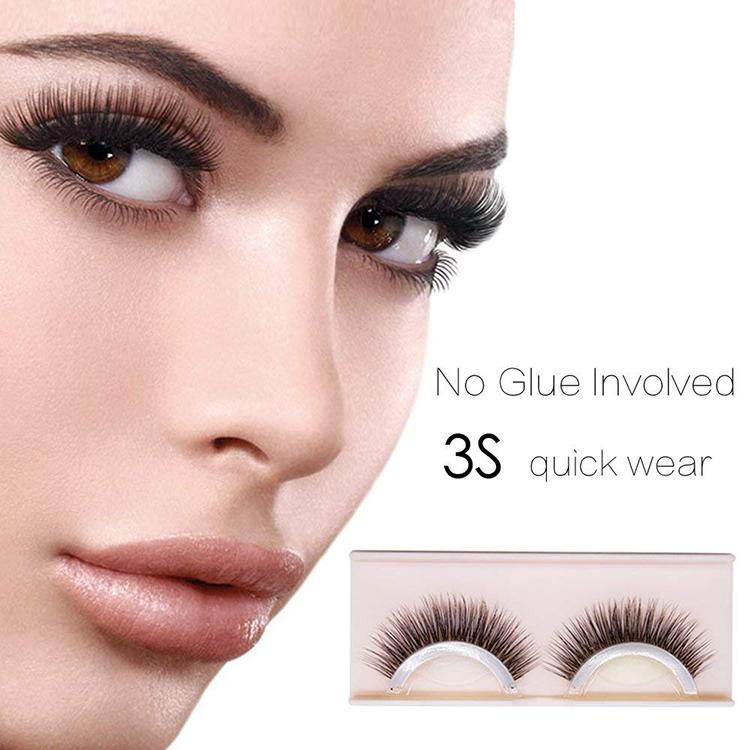 Wholesale Natural Fashion 3D Reusable Self Adhesive Eyelashes фото