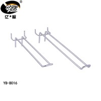 High quality Wholesale Single line Display Metal pegboard hooks Iron Euro Hooks with best price for Supermarket and Store