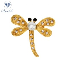 Rhinestone Bee dragonfly Broches voor Vrouwen <span class=keywords><strong>Emaille</strong></span> Pins Kleine Insect <span class=keywords><strong>Broche</strong></span> Pin <span class=keywords><strong>Mode-sieraden</strong></span> Kristal Vrouwen Broches
